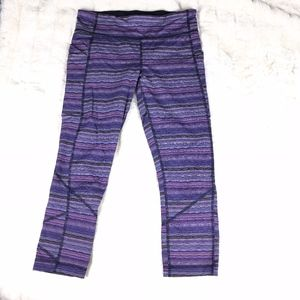 Lululemon Pace Rival Crop Leggings Violet Multi 8